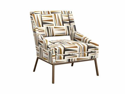 Amani Chair With Bright Brass