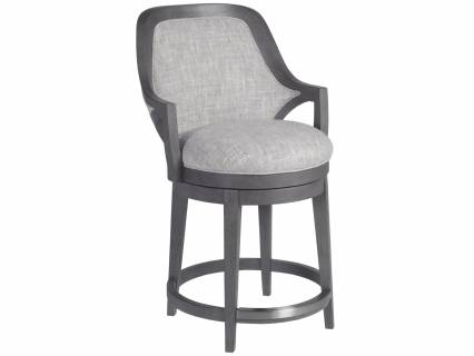 Appellation Upholstered Swivel Counter Stool
