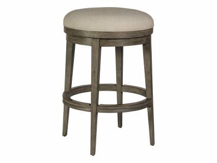 Cecile Backless Swivel Barstool