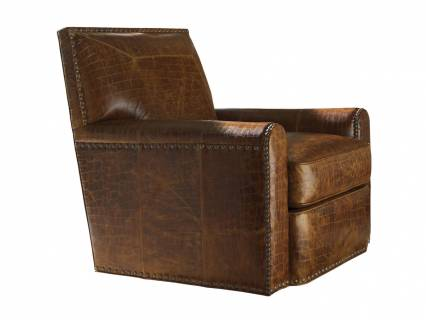 Stirling Park Leather Swivel Chair