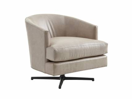 Graves Leather Swivel Chair Charcoal Base